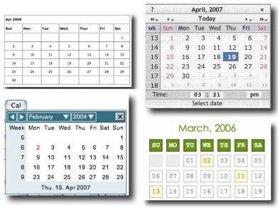 Html Calendario.Como Insertar Un Calendario En Mi Web